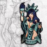 Lady Liberty Embroidery Patch