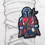 Grumpy Brick fig Mando PVC Patch