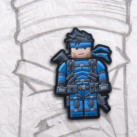 Grumpy Brick fig Solid Snake PVC Patch