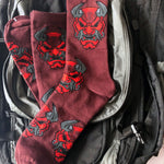 ON SALE! Devil Oni Red Dress Socks