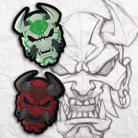 Devil Oni Eyes PVC Morale Patch Set
