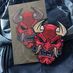 Devil Oni Mask Embroidery Patch