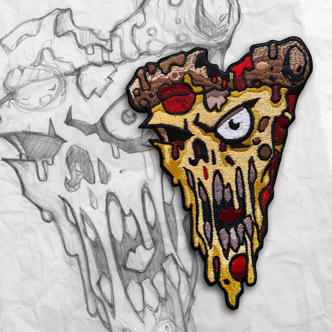 Zombie Pizza Embroidery Patch