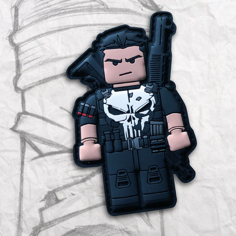 Grumpy Brick fig Punisher PVC Patch