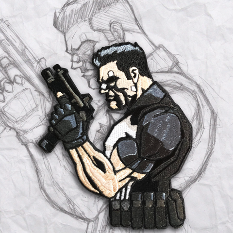 The Punisher Embroidery Morale Patch