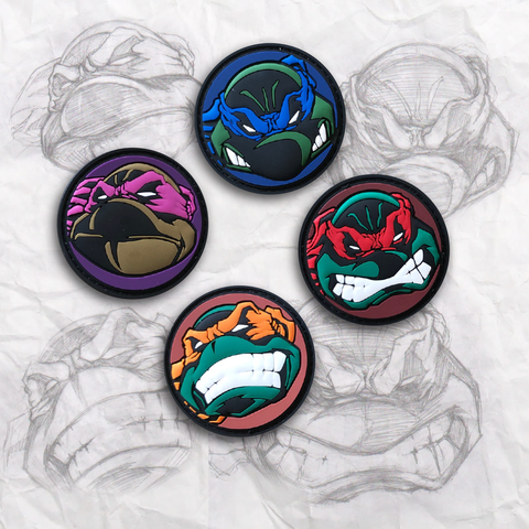 TMNT Medallion PVC Patch Set