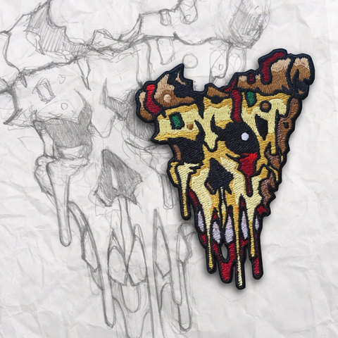 Second Slice Zombie Pizza Embroidery Patch