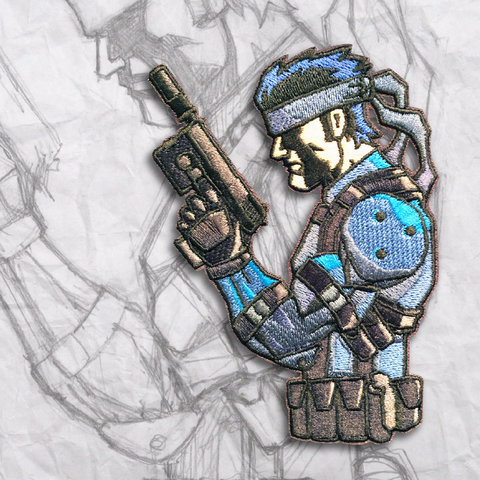 Grumpy Solid Snake Embroidery Morale Patch