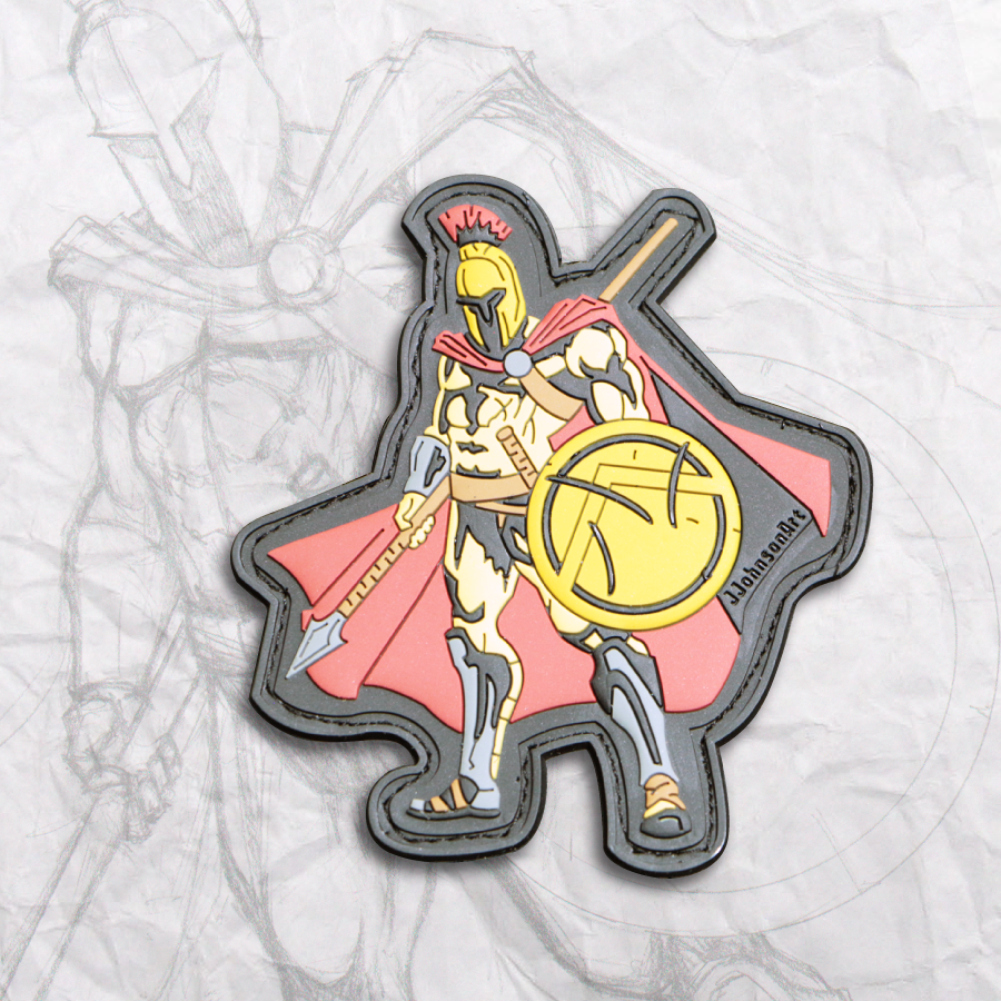 Spartan Warrior PVC Patch