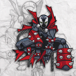 Spawn Embroidery Patch