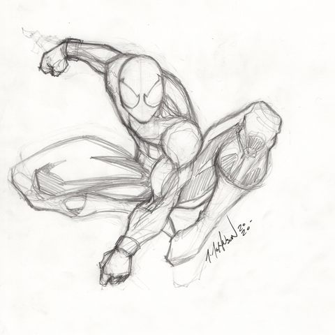 Spider-Man Sketch Original Artwork