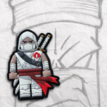 Grumpy Brick fig Storm Shadow PVC Patch