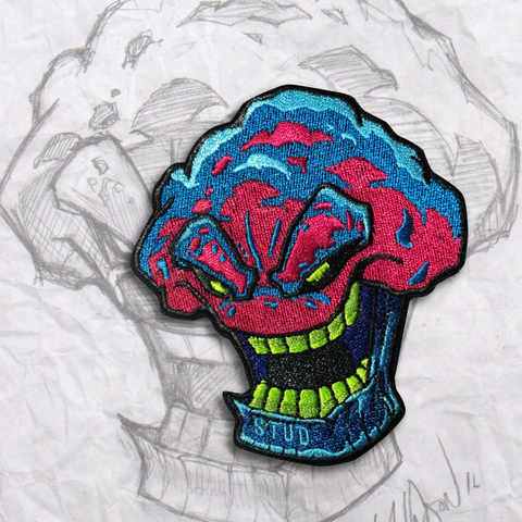 Psychedelic Stud Muffin  Embroidery Morale Patch