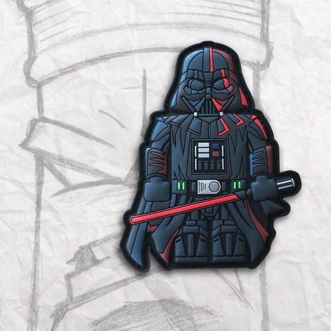 Grumpy Brick fig Darth Vader PVC Patch