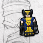 Grumpy Brick fig Wolverine PVC Patch