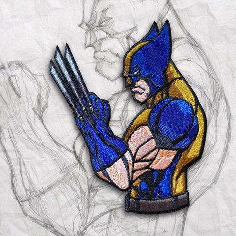 Grumpy Wolverine Embroidery Patch