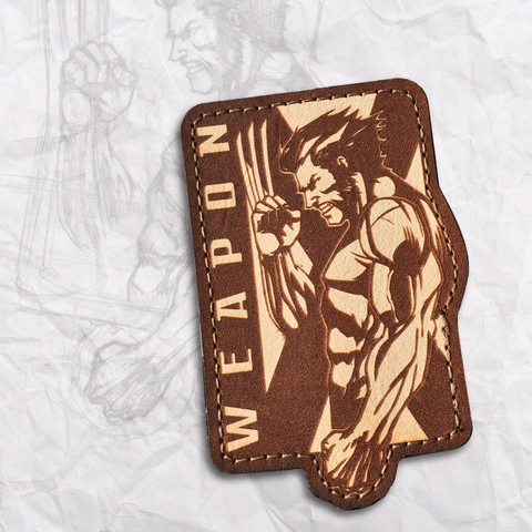 Wolverine Leather Morale Patch