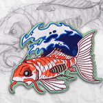 Zombie Koi Embroidery Patch