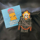 Grumpy Brick fig Ghost Rider PVC Patch
