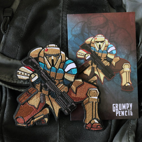 Grumpy Trooper Embroidery Morale Patch