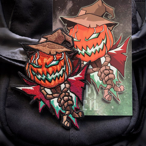 Scarecrow Embroidery Morale Patch