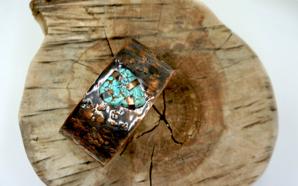Turquoise and Copper Tribal Neck Collar/Arm Cuff