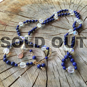 Lapis and Moonstone Necklace with Gold