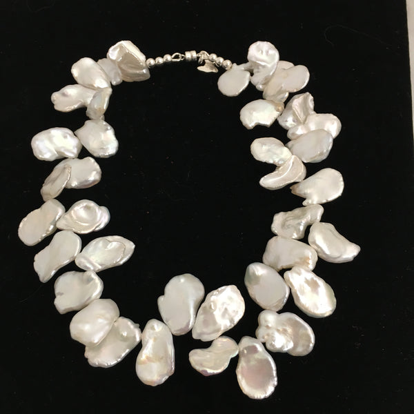 Luminous White Keshi Pearl Necklace