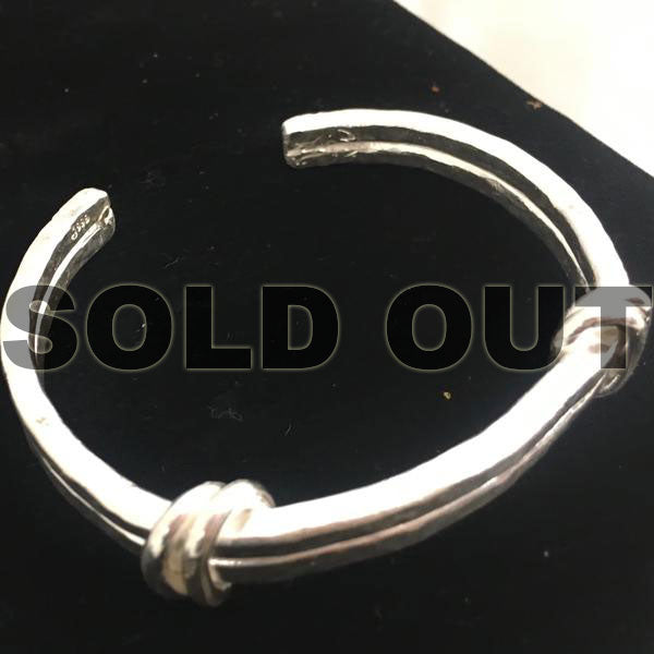Men's Fine Silver Cuff Hammered