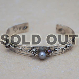 Steam Punk Pearl Cuff Bracelet