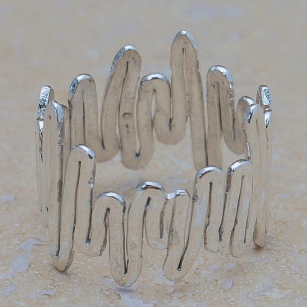 Sterling Silver Stock Market Ring