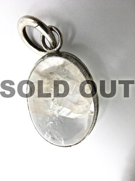 Rare Crystal within a Crystal Quartz Healing Pendant