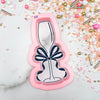 Champagne Glass with Bow Cutter/Stencil