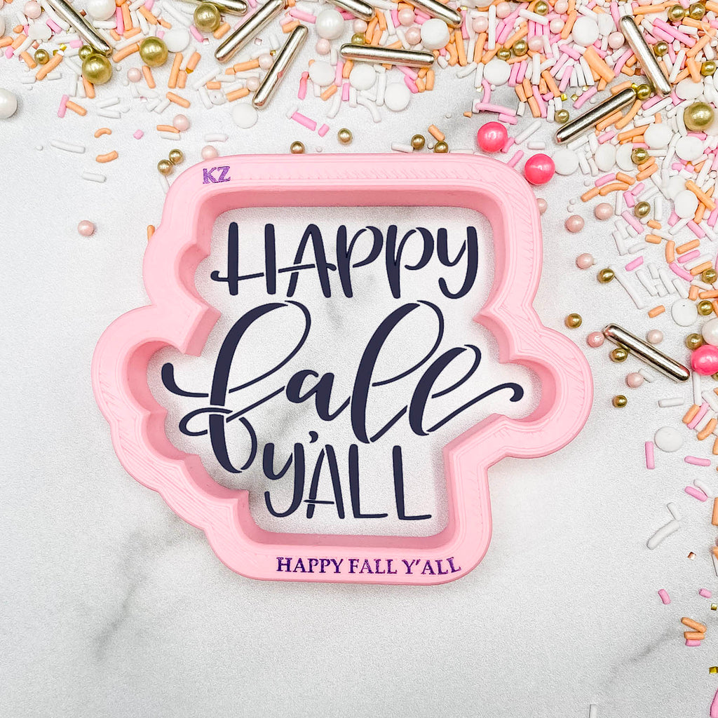 Happy Fall Y'all Hand Lettered