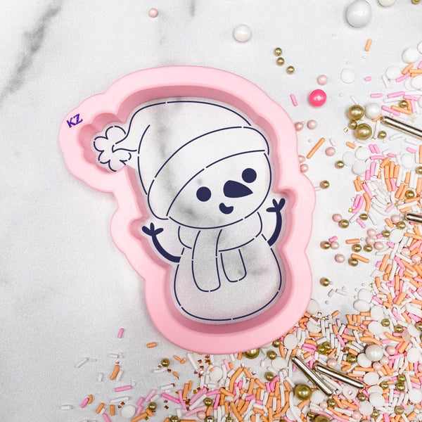 Snowman Bundled Up Cutter/Stencil