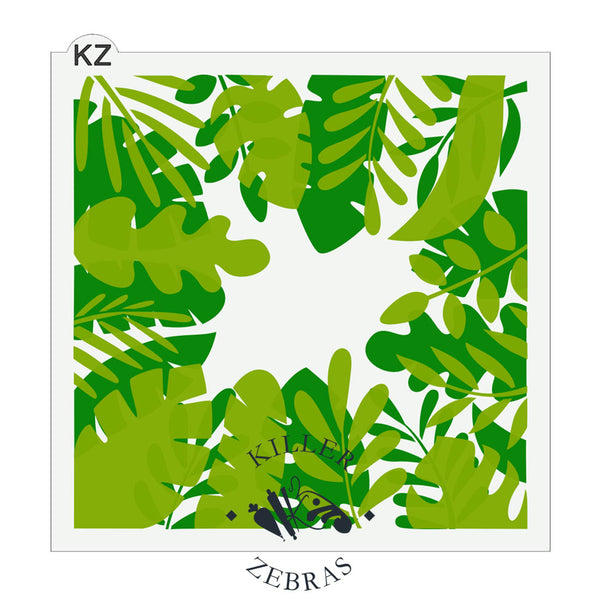 Tropical Leaf Frame 2 Part