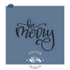 Be Merry Hand Lettered