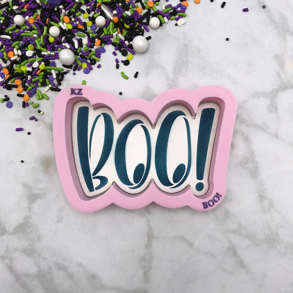 BOO! Hand Lettered