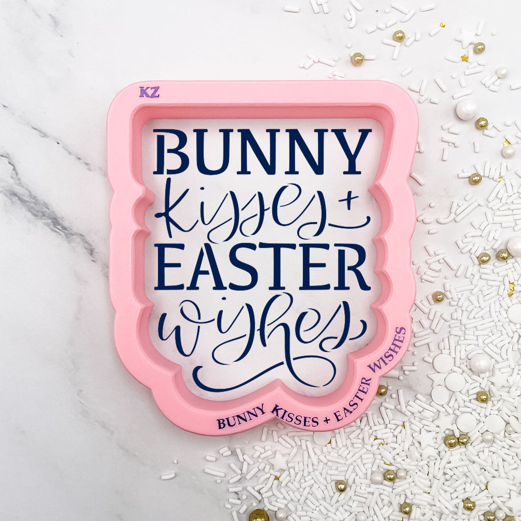 Bunny Kisses + Easter Wishes Hand Lettered