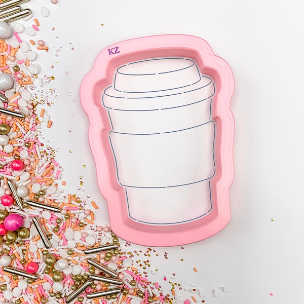 To Go Coffee Cup Cutter/Stencil