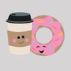 Coffee & Donuts Cutter/Stencil