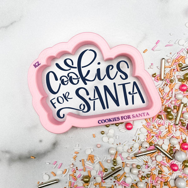 Cookies For Santa Hand Lettered