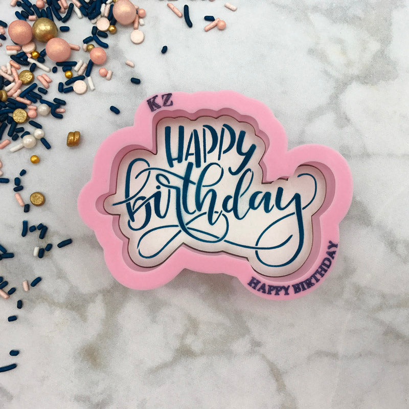 Happy Birthday Hand Lettered (Style 1)