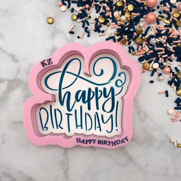 Happy Birthday Hand Lettered (Style 2)