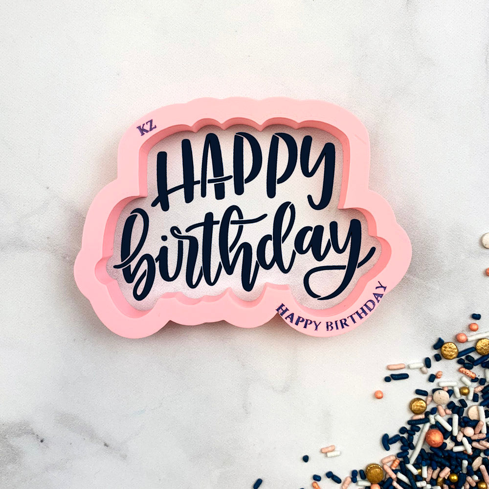 Happy Birthday Hand Lettered (Style 3)