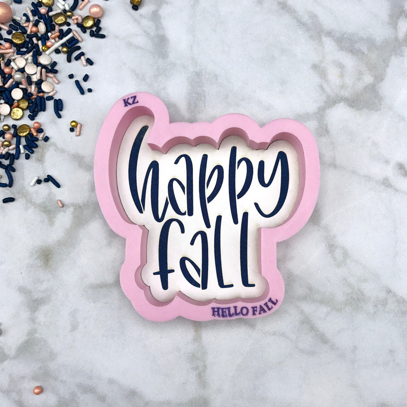 Happy Fall Hand Lettered