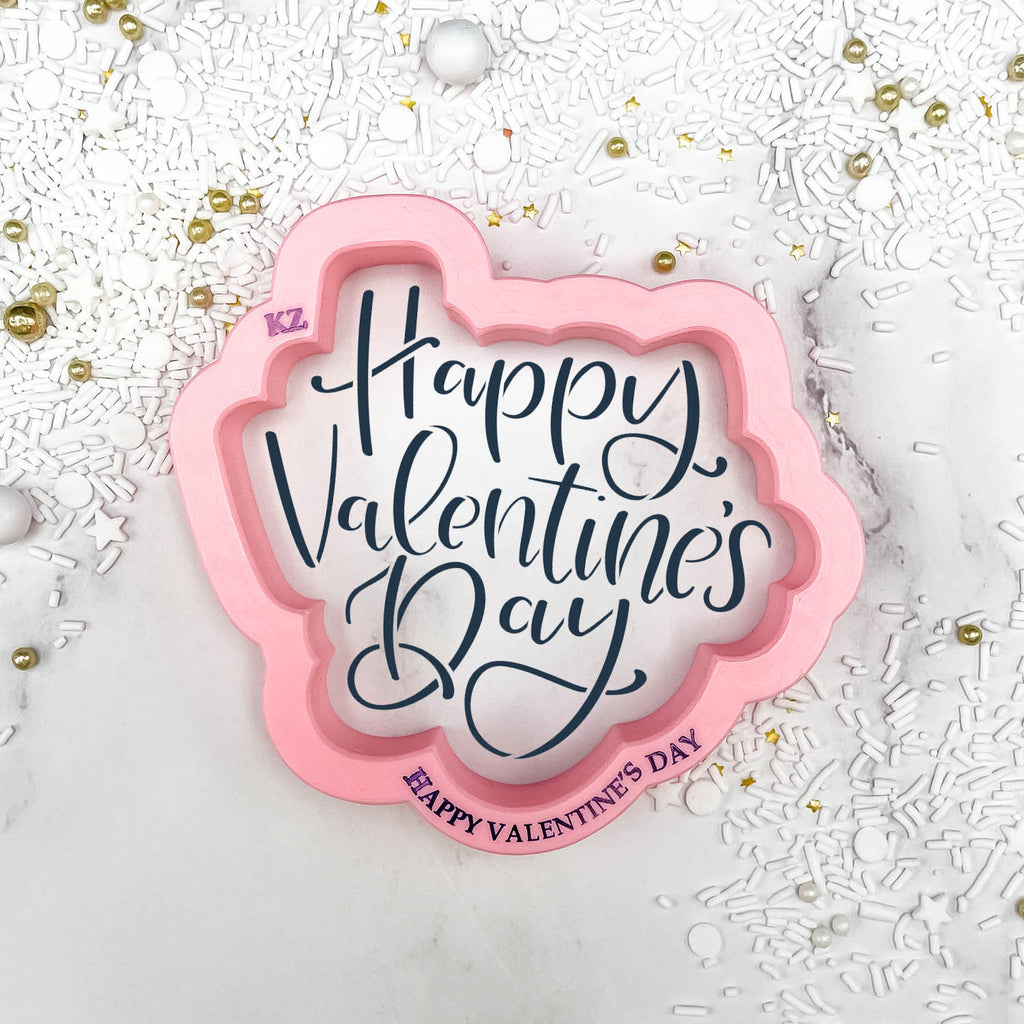 Happy Valentine's Day Hand Lettered