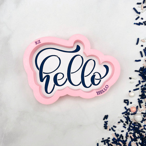 Hello Hand Lettered