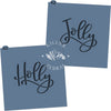 Holly/Jolly Hand Lettered