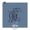 It's A Girl Hand Lettered